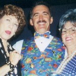 Lily Tomlin, Auctioneer Scott Robertson, and Artist Mel Meo