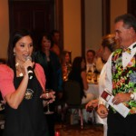 Amy Wegman Fox-4 News and auctioneer Scott Robertson