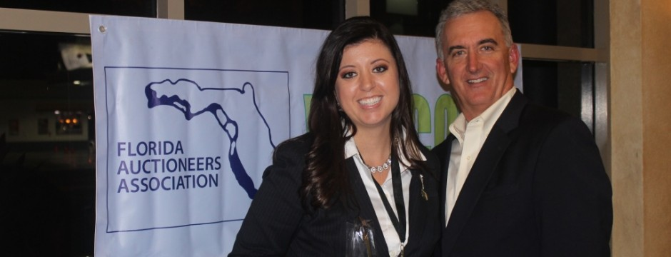 Sarah Rose Bytnar and Scott Robertson Florida Auctioneers Association
